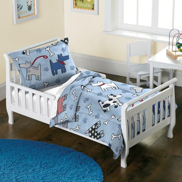 Dream Factory Dog Dreams 2-piece Toddler Comforter Set
