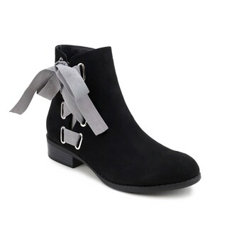 Olivia Miller 'Elmhurst' Side Ribbon Laced Ankle Booties