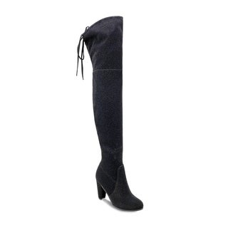 Olivia Miller 'Mastic' Shimmer Shine Top Back Lace Heel Thigh High Boots|https://ak1.ostkcdn.com/images/products/17129247/P23396300.jpg?_ostk_perf_=percv&impolicy=medium