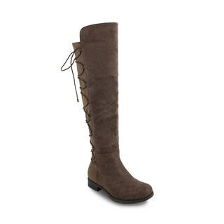 Olivia Miller 'Smithtown' Back Laced Stretch Riding Boots (5 options available)