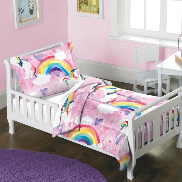 Dream Factory Unicorn Rainbow 2-piece Toddler Comforter Set