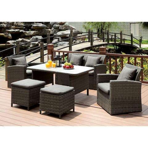 Furniture of America Tals Contemporary Grey Fabric 6-piece Sofa Set