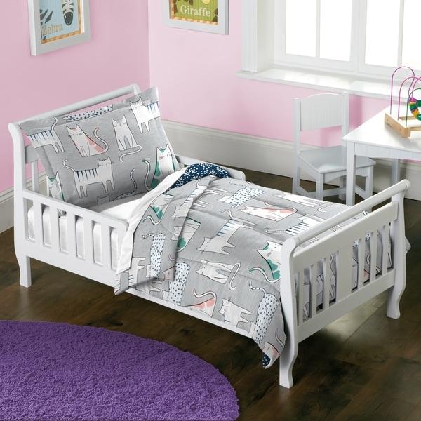 Dream Factory Purrfect Cats 2-piece Toddler Comforter Set