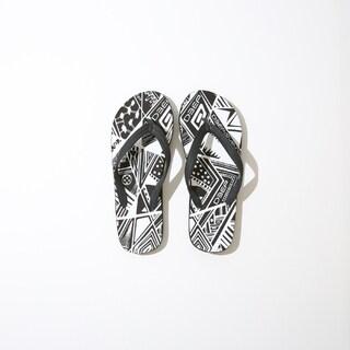 Deep Lifestyles White/ Black Zebra Print Women Summer Sandals Comfort Casual Thong Flat Slipper Flip Flops Flip-Flop Flipflops (4 options available)