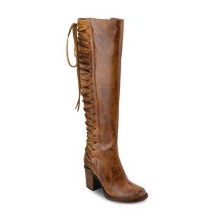 Olivia Miller 'Macarthur' Back Lace Distressed Chunky Heel Over the Knee Boots
