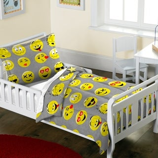 Dream Factory Emoji 2-piece Toddler Comforter Set