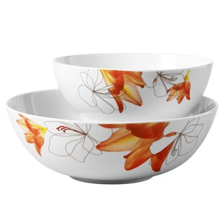 2pc Round Serving Bowl Set - Lily