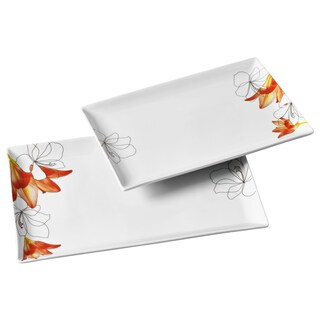 2pc Rectangular Platter Set - Lily