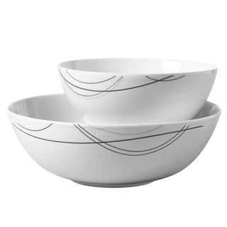 2pc Round Serving Bowl Set - Alec