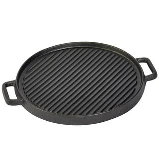 """12"""" Round reversible grill/griddle with two side handles"""