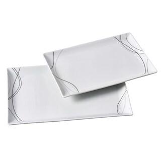 2pc Rectangular Platter Set - Alec