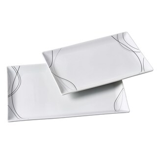 2pc Rectangular Platter Set - Alec