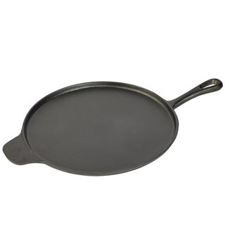"""12"""" Round griddle with assist handle"""