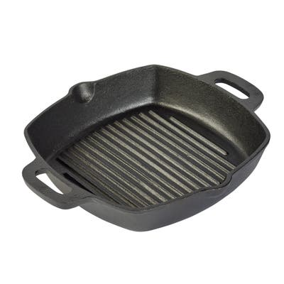 """10"""" Square grill pan with two side handles"""