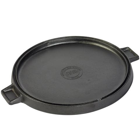 """14"""" Round reversible grill/griddle with two side handles"""