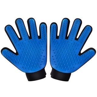 Two-sided Pet Grooming Gloves Brushes, Deshedding Tool, for Removing Pet Shedding Hair