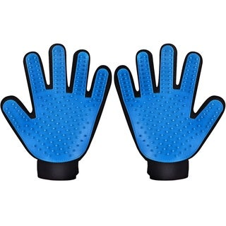 Link to Pet Grooming Massage Glove Brush, Pet Dog Cat Grooming Gloves Hair Remover Brush Glove Similar Items in Dog Grooming