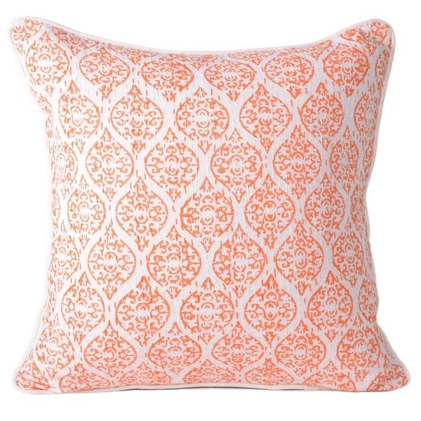 Shop Orange Cotton Indian Ethnic Style Decorative Pillowcase Throw Delectable Indian Style Decorative Pillows