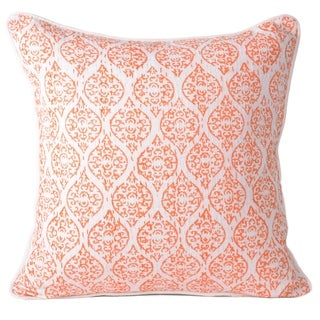 Orange Cotton Indian Ethnic Style Decorative Pillowcase Throw Pillow Cushion Cover 16 X 16 Inch