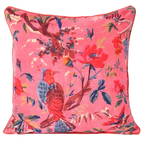 Velvet Throw Pillow Case Cushion Cover Home Sofa Couch Decorative Size 16 X 16 Inch (Pink) Online