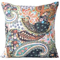 Cotton Throw Pillow Cases Decorative Cushion Cover 16 X 16 Inch (Black)