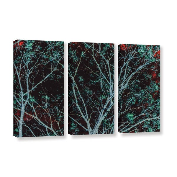ArtWall Scott Medwetz 'Tree at Midnight' 3-piece Gallery-wrapped Canvas Set - Multi