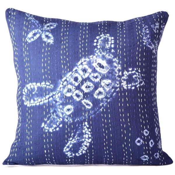 shop indigo turtle throw pillow case cushion cover home sofa decorative 16 x 16 inch free. Black Bedroom Furniture Sets. Home Design Ideas