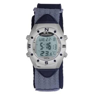 Chronotech Men's Quartz Digital Grey Canvas Strap Watch|https://ak1.ostkcdn.com/images/products/17135111/P23401467.jpg?impolicy=medium