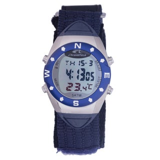 Chronotech Men's Blue Canvas Digital Quartz Watch