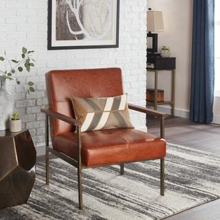 Strick & Bolton Retro Steel Tan Leather Armchair