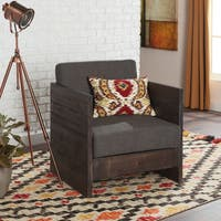 Creston Smoke Linen Arm Chair Free Shipping Today