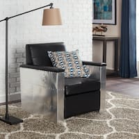 Madison Avenue Modern Black Leather Chair