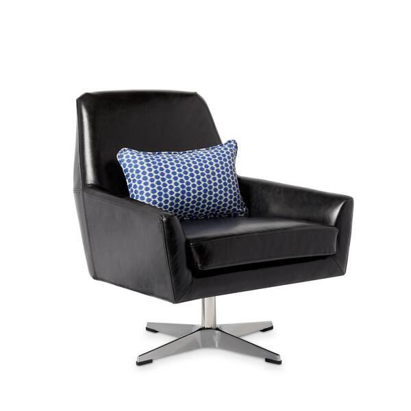Awesome Shop Carson Carrington Lisbon Off Black Leather Swivel Chair Machost Co Dining Chair Design Ideas Machostcouk