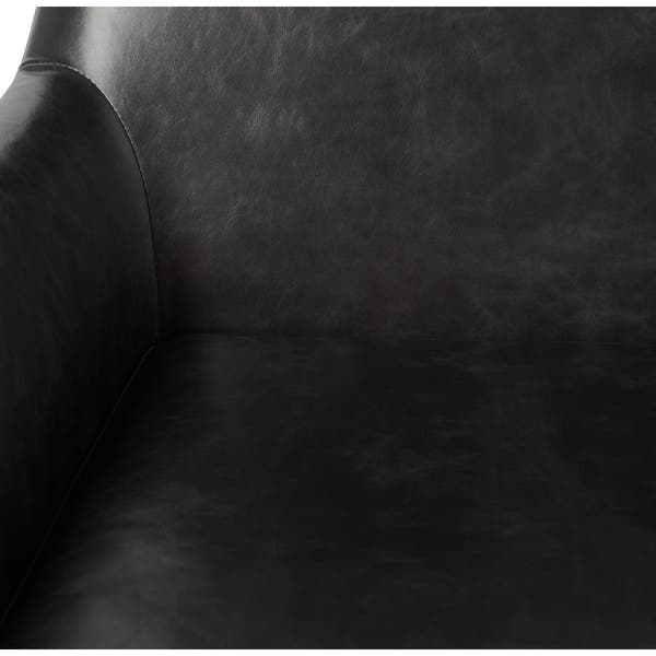 Fantastic Shop Carson Carrington Lisbon Off Black Leather Swivel Chair Machost Co Dining Chair Design Ideas Machostcouk