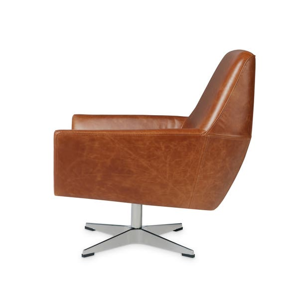 Astounding Shop Carson Carrington Lisbon Saddle Leather Swivel Chair Caraccident5 Cool Chair Designs And Ideas Caraccident5Info