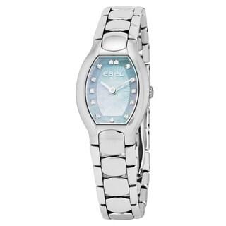 Ebel Women's 1216249 'Beluga Tonneau' Blue Mother of Pearl Diamond Dial Stainless Steel Swiss Quartz Watch