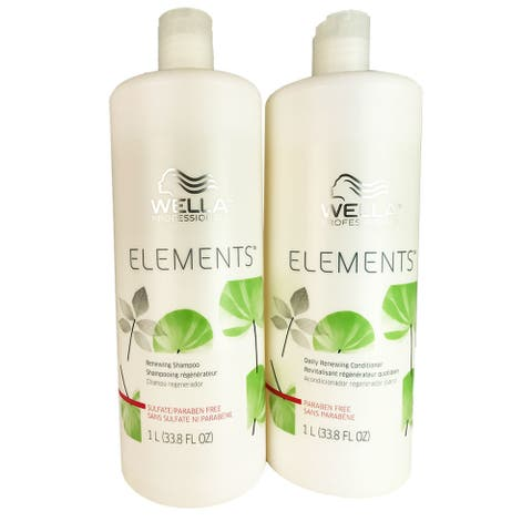 Wella Elements 33.8-ounce Shampoo & Conditioner Duo