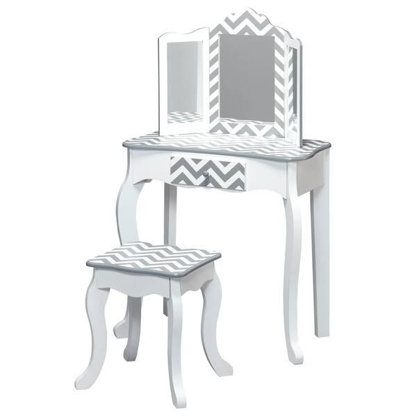 Swell Shop Teamson Kids Fashion Prints Vanity Table Stool Set Ibusinesslaw Wood Chair Design Ideas Ibusinesslaworg