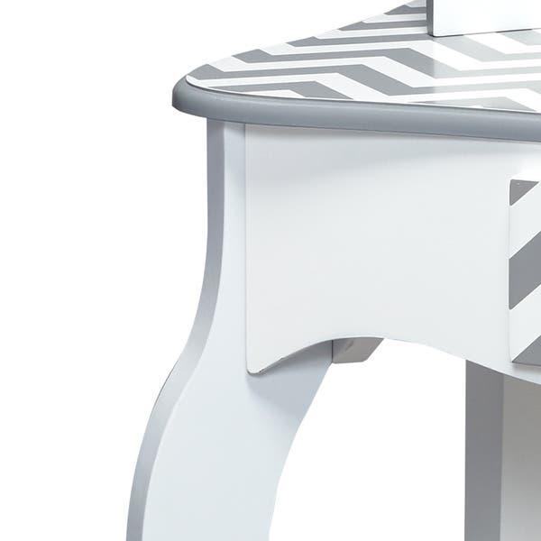 Peachy Shop Teamson Kids Fashion Prints Vanity Table Stool Set Ibusinesslaw Wood Chair Design Ideas Ibusinesslaworg