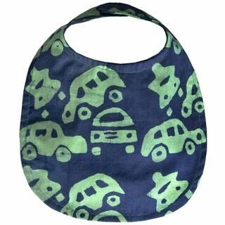 Hand Batiked Cotton Baby Bib - Lime Cars (Ghana) https://ak1.ostkcdn.com/images/products/17136473/P23402650.jpg?impolicy=medium