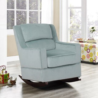 Incroyable Lifestyle Solutions Riley Blue Fabric Nursery Rocker