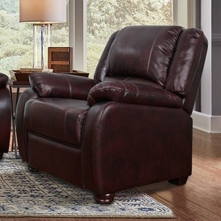 Relax A Lounger Brown Leather Boston Chair by Lifestyle Solutions