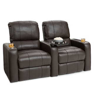 Seatcraft Millenia Brown Leather Home Theater 2-seat Recliner  sc 1 st  Overstock.com & Theater Seating Living Room Furniture - Shop The Best Deals for ... islam-shia.org