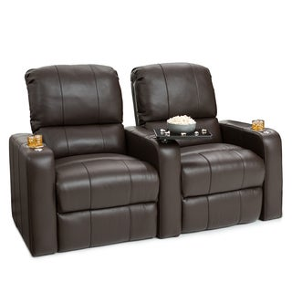 Seatcraft Millenia Brown Leather Home Theater 2-seat Recliner
