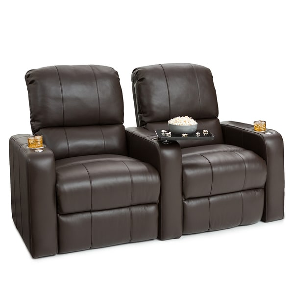Seatcraft Millenia Brown Leather Home Theater 2-seat