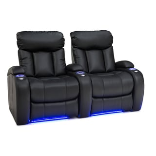Seatcraft Orleans Black Leather Gel Row of 2 Manual Recline Home Theater Seats  sc 1 st  Overstock.com & Theater Seating Living Room Furniture - Shop The Best Deals for ... islam-shia.org