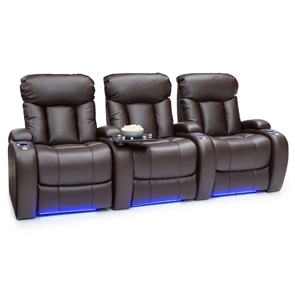 Shop Seatcraft Orleans Leather Gel Home Theater Seating