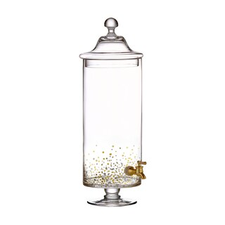 Confetti Gold/Black Beverage Dispenser 1.13gal
