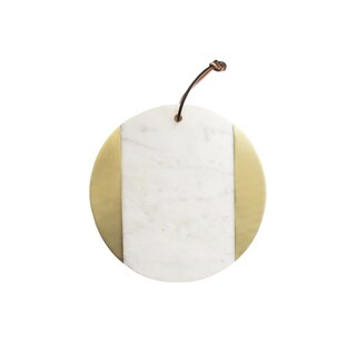 Marble White/Brass Cutting Board