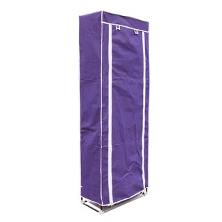 Purple 10-layer 9-grid Large Capacity Durable Shoe Cabinet With Storage Racks